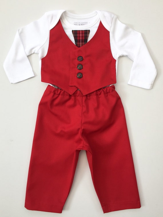 1c58f3f02cf2 All Red Outfit For Boys