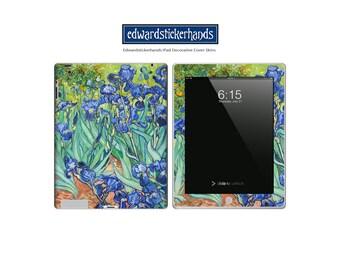 Van Gogh Irises Decorative Decal iPad Cover Skin