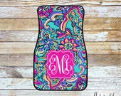 Monogrammed Lilly Pulitzer Inspired Car Mats - Bait & Switch