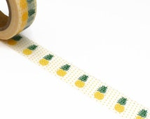 Pineapple Washi Tape with Polka Dots 10m x 15mm