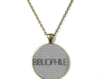 Bibliophile Book Necklace, Quote Jewelry, Book Page Jewelry, Bookworm Necklace, Nerdy Book Jewelry, Book Page Necklace, Book Lover Jewelry