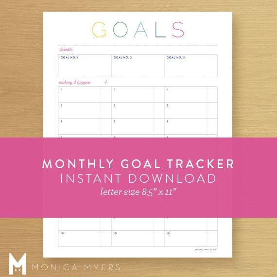 Goal Calendar Diy : Monthly goal tracker printable search results calendar