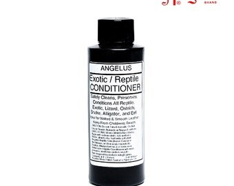 Angelus Exotic & Reptile Skin Deep CONDITIONER CREAM Lotion Cleaner clean Leather lizard ostich snake alligator eel boot shoe 4 ounce oz