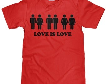 Love is Love T Shirt - Marriage Equality - Love Wins Men's T Shirt - Item 1803