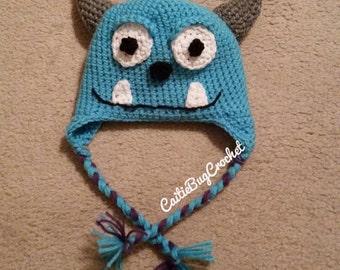 Crochet Sullivan Monster Hat