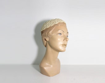 1940s Crochet Skull Cap | Crochet Hat | Skull Cap