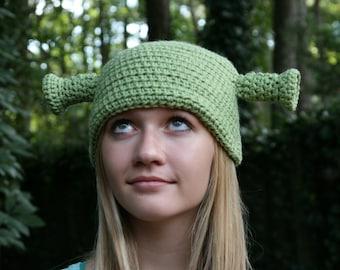 FREE SHIP Shrek Inspired Hat - All Sizes