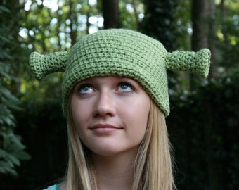 Shrek Inspired Hat - Newborn to Adult Sizes