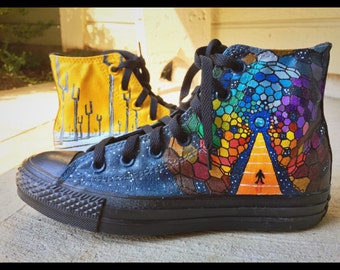 MUSE Inspired Hand-Painted Converse