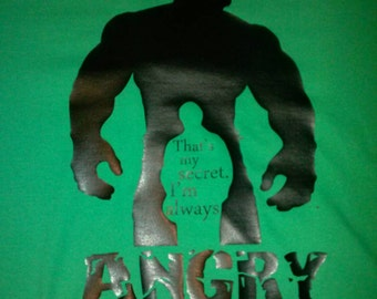 Hulk that's my secret I'm always angry shirt
