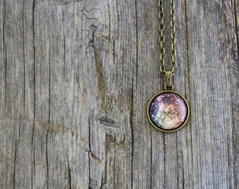 Callisto, Callisto Necklace, Callisto Pendant, Solar System, Jupiter, Planet Necklace, Space Jewelry, Universe Jewelry, Galaxy, Science