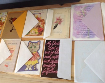 Vintage Greeting Cards. 21 of them.