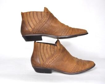 Short cowboy boots | Etsy