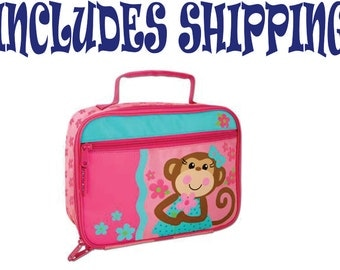 Stephen Joseph Toddler Monkey Girl Lunch Box Pre School INCLUDES SHIPPING!!!  Personalized