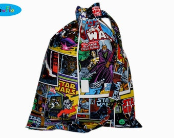 Knitting Bag | Project Bag | Drawstring Pouch | Sock Knitting Project Bag | Sock Bag | Star Wars Bag