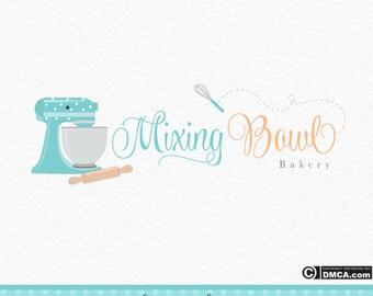 Premade Bakery Logo - Cakery Logo, Mixer Logo, Whisk Logo, Baking Logo, Cake Mixer Logo, Wedding Cake, Cake Business Logo, Branding Logo