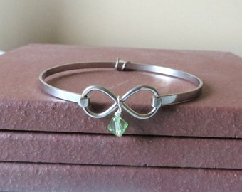 Lime Green Lymphoma Awareness Stainless Steel HOPE LOVE Bracelet YOU Choose Charm(s)