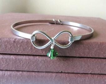 Green Awareness Stainless Steel HOPE LOVE Bracelet YOU Choose Charm(s)