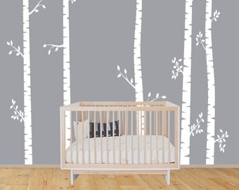 Nature Wall Decal Etsy - Vinyl wall decals birch tree