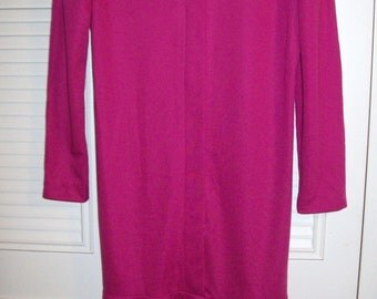 Vintage Irene Herbert's Hot Pink Sheath Dress , All Flaring Hem-line see details Size 12
