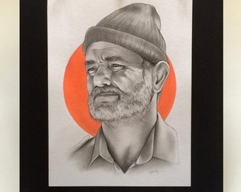 Bill Murray/Steve Zissou Original Hand Drawn Portrait