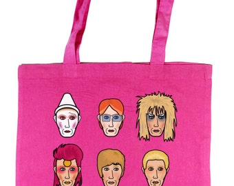 David Bowie (s) Pink or Purple Tote Bag