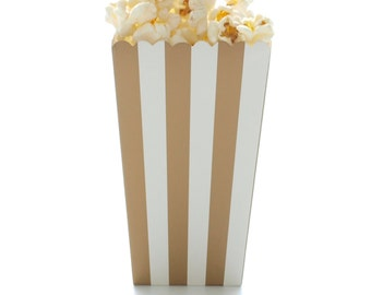gold stripe popcorn boxes 12 pack open top favor boxes movie theatre