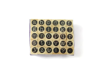 Alphabet Rubber Stamp Set | Letter Stamp | Craft Destash | Art Supplies | Rubber Stamp | Craft Stamp | Letter Stamps | Alphabet Stamp Set