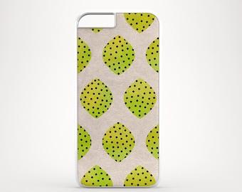 Polka dot lemons iPhone 6 case, Lime iPhone 5C case, Fun iPhone 5s case, iPhone 4 case