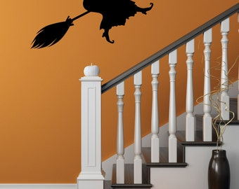 Halloween Decal, Witch Decal, Halloween Wall Decal, Witch Wall Decal, Flying Witch Decal, Halloween Party, Witch, Car Decal, Yeti Decal