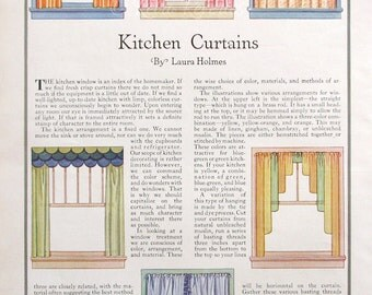 1931 Kitchen Curtains Illustration   1930s Sewing Room Ideas   Craft Room  Decor