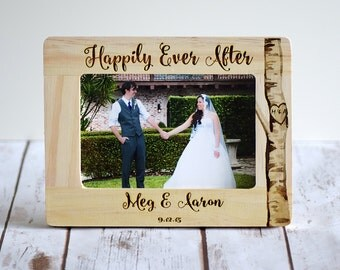 Personalized Wedding Gift, Engraved Frame, Happily Ever After, Anniversary Gifts, Housewarming Gift, Wedding Gift Momento, Wedding Frame