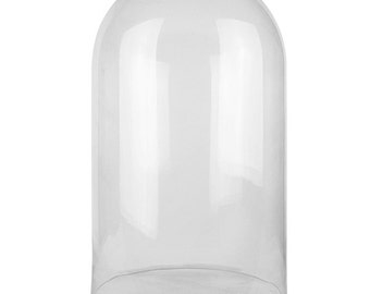Glass Cloche Bell Dome with 19.5 inches Height and 12 inches Diameter - GDO108