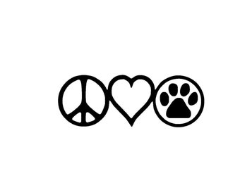 Peace Love Dogs Vinyl Decal/Sticker