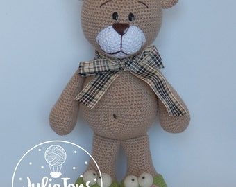 El Clasico  teddy bear - crochet PDF pattern