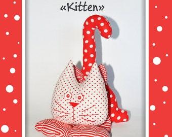 Plush cat, kitten, rag cat, cat toy