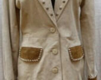 Medium VINTAGE lew magram  SUEDE western Women's Jacket