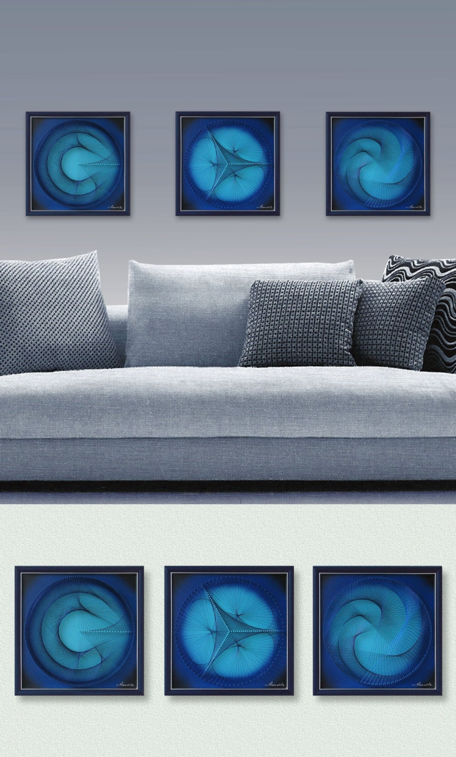 Wall decor for home or office 3d zen abstract string art for Home decor zen