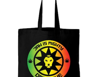 Jah is Mighty Reggae Cotton Tote Shopping Bag