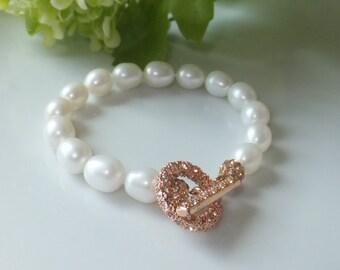 """Bracelet sweet water pearls as """"Pear"""""""