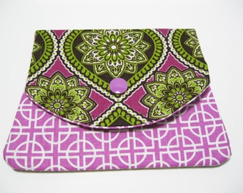 Fabric Womens Wallet, Cotton Fabric Wallet, Credit Card Holder, Business Card Holder, Gift Card Holder, Gift Under 20