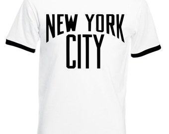 NYC Ringer T-Shirt - As Worn By John Lennon, All Sizes/Colours