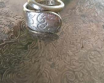 Upcycled silver spoon ring.