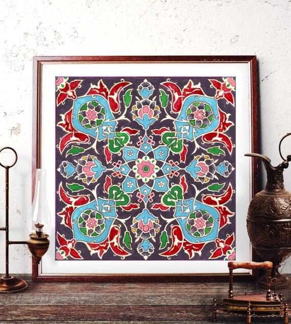 mosque tile design home decor traditional turkish tile wall art