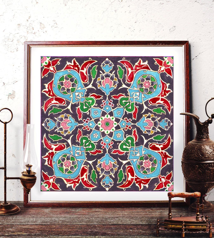 Https Www Etsy Com Listing 247038225 Mosque Tile Design Home Decor