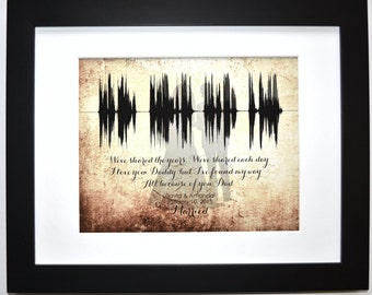 Unique father of the bride gift for dad wedding thank you present ideas of all the walks we've taken ANY personalized message voice wave art