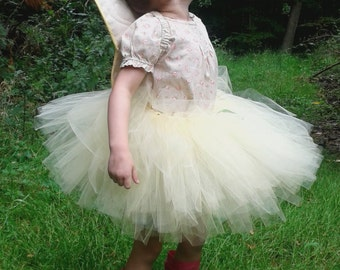 Yellow Tutu. Fairy/ballet skirt. HANDMADE
