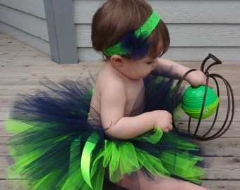 Blue Green Football Colors Tutu/Blue Green Football Tutu/Blue Green Tutu/Sports Tutu/Infant Tutu/Baby tutu/BlueTutu/Green Tutu/Toddler Tutu