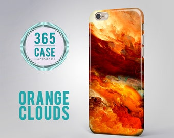 iPhone 6 Case Orange Clouds iPhone 6 Plus Case Red Yellow Sky Heaven Cloud Texture Print iPhone 5/5S/5C/4/4S Case Samsung Galaxy Note Cases