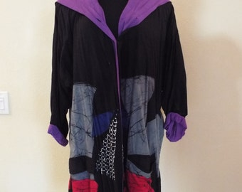 80's Lightweight Cotton Hooded Jacket Ladies Size XL-Free Shipping!